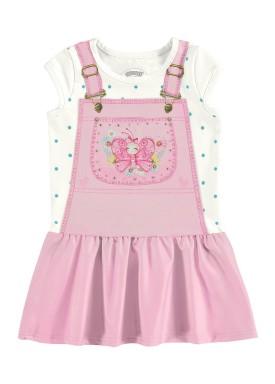 vestido bebe feminino borboletinha rosa alakazoo 39541