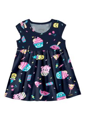 vestido bebe feminino cupcake marinho alakazoo 39543