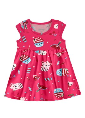 vestido bebe feminino cupcake rosa alakazoo 39543