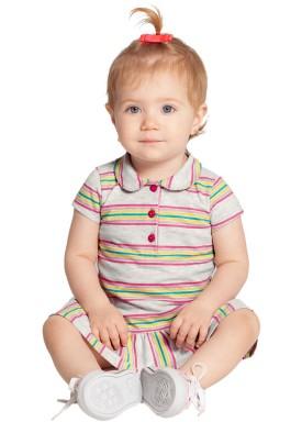vestido bebe feminino listras mescla alakazoo 39547 1