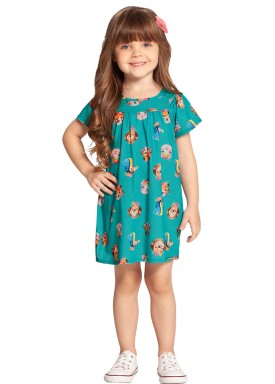 vestido infantil feminino animais verde alakazoo 39560 1