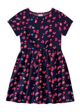 vestido infantil feminino estampado marinho alakazoo 39608