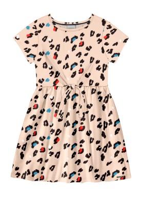 vestido infantil feminino estampado salmao alakazoo 39608