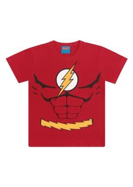 camiseta infantil masculina flash vermelho kamylus 82224