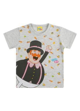 camiseta infantil masculina mundo bita mescla kamylus 89813