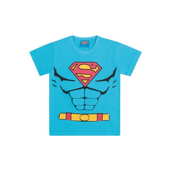 camiseta infantil masculina superman azul kamylus 82224