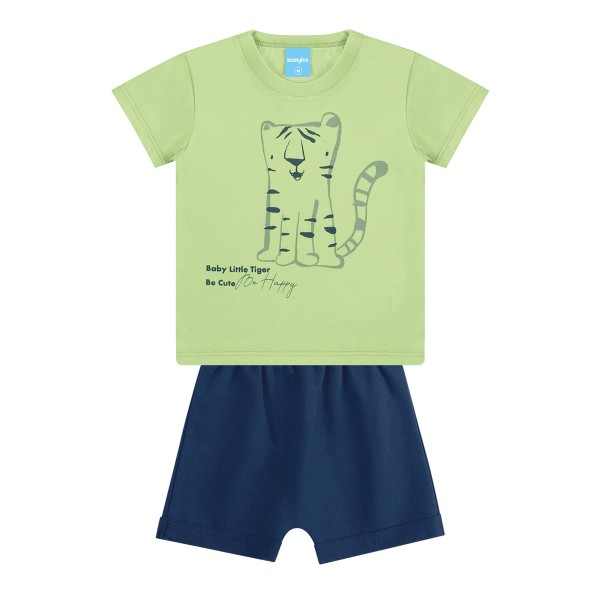 conjunto bebe masculino tiger verde kamylus 12000