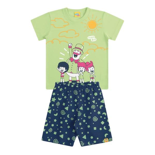 conjunto infantil masculino mundo bita verde kamylus 89814