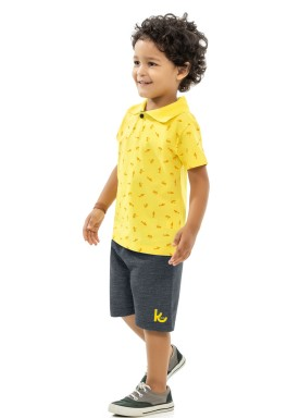 conjunto infantil masculino sharks amarelo kamylus 12024 1