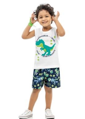 conjunto infantil masculino supersaurus branco kamylus 12021 1