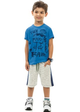 conjunto infantil masculino trex azul kamylus 12047 1
