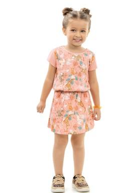 vestido infantil feminino floresta salmao kamylus 10164 1