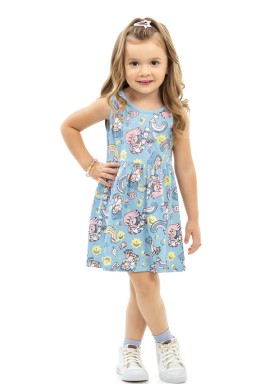 vestido infantil feminino friends azul kamylus 10160 1