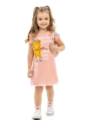 vestido infantil feminino oncinha salmao kamylus 10165 1
