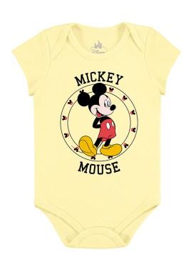 body bebe masculino mickey amarelo marlan d4139