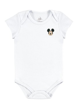 body bebe masculino mickey branco marlan d5412