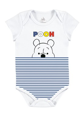 body bebe masculino ursinho pooh branco marlan d4171