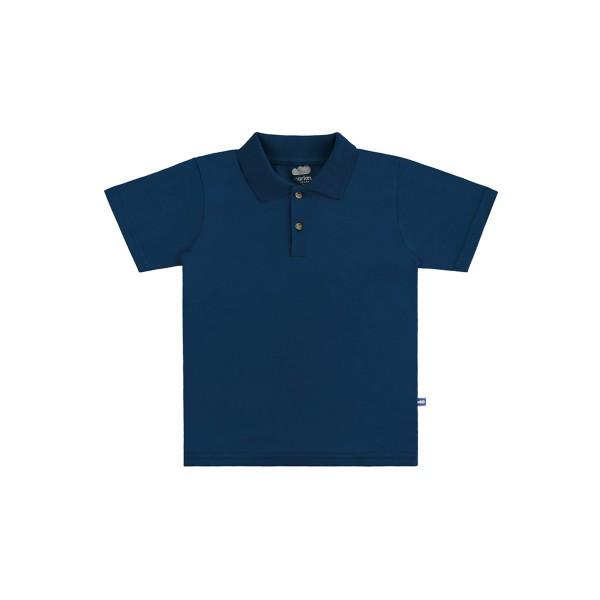 camisa polo basica infantil masculina marinho marlan 54031