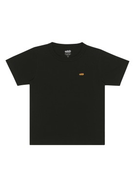 camiseta basica infantil masculina preto marlan 54012