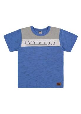 camiseta infantil masculina concept azul marlan 44659