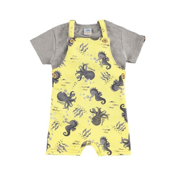 conjunto bebe masculino oceano amarelo marlan 40381
