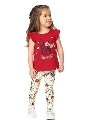 conjunto infantil feminino sweet vermelho marlan 42433 1