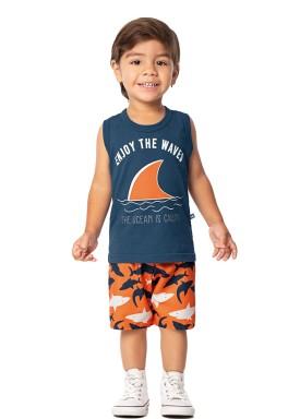conjunto infantil masculino waves azul marlan 42469 1