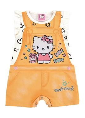macaquinho bebe feminino hello kitty laranja marlan y4001 1