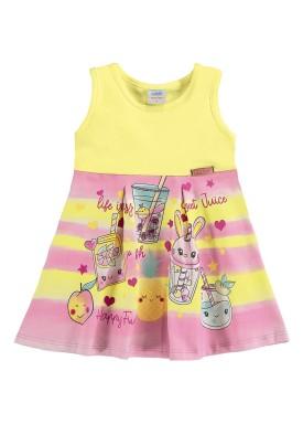 vestido bebe feminino juice amarelo marlan 40399
