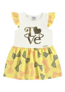 vestido bebe feminino love offwhite marlan 40356
