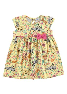 vestido bebe feminino nature amarelo marlan 40366