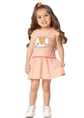 vestido infantil feminino fashion laranja marlan 42429 1