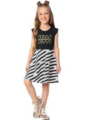 vestido infantil feminino hello kitty preto marlan y4026 1