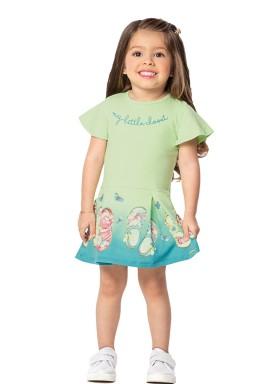 vestido infantil feminino little closet verde marlan 42421 1