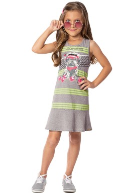 vestido infantil feminino sports mescla marlan 44633 1