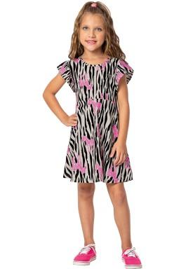 vestido infantil feminino zebras preto marlan 44622 1