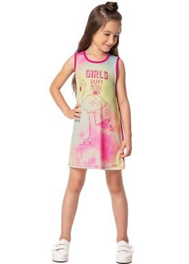 vestido infantil feminino happy mode rosa marlan 44646 1