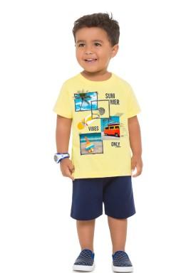 conjunto infantil masculino summer amarelo brandili 24223 1