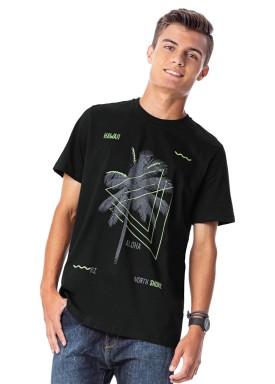 camiseta juvenil masculina hawaii preto rezzato 30731 1