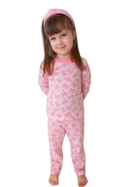 pijama longo infantil feminino lacos rosa miniliz 1004