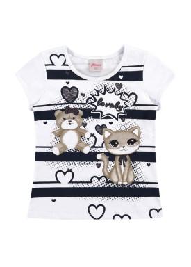 blusa infantil feminina lovely branco alenice 44360