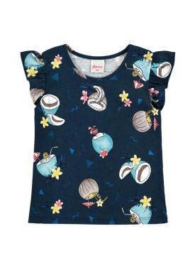 blusa infantil feminina tropical marinho alenice 44348