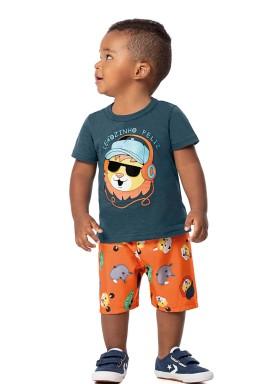 conjunto bebe masculino leaozinho marinho alenice 40998 1
