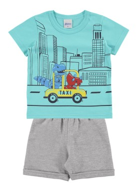 conjunto bebe masculino taxi azul alenice 40987 1