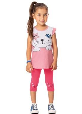 conjunto infantil feminino cat rosa alenice 44367 1
