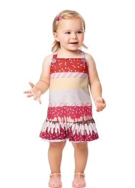 salopete bebe feminino candies vermelho alenice 41034 1