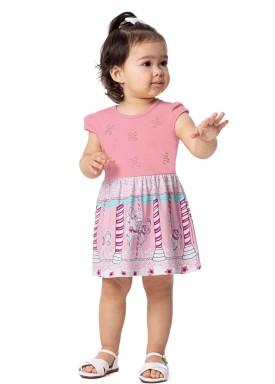 vestido bebe feminino carrossel rosa alenice 41032 1
