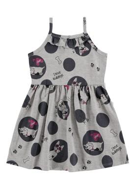 vestido infantil feminino bulldogs mescla alenice 44349