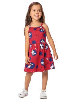 vestido infantil feminino bulldogs vermelho alenice 44349 1