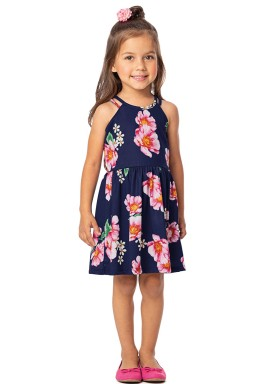 vestido infantil feminino floral marinho alenice 44376 1